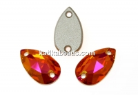 Swarovski drop link, astral pink, 12x7mm - x1