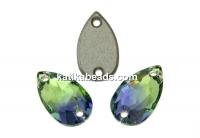 Swarovski drop link, provence lavander-chrysolite, 12x7mm - x1