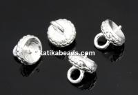 Pendant base, 925 silver, 6mm - x1