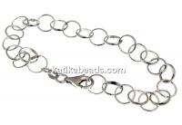 Bracelet, 925 silver rhodium plated, 20cm - x1
