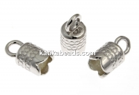 Clasp for bracelets or necklaces,  925 silver rhodium plated, inside 4mm - x2