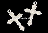 Pendant, 925 silver, cross, 20mm - x1