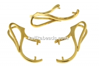 Pendant bail, 925 silver gold plated, for beads and pearls 8 to 12mm - x1