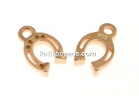 Pendat, horseshoe, 925 silver rose gold plated, 11mm  - x1