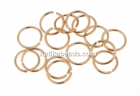 Jump rings, rose gold-plated 925 silver, 6x0.6mm - x10