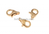 Clasp, classic, 925 silver rose gold plated, 8.3x5.5mm - x2