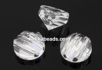 Swarovski, round spike beads, crystal, 7.5mm - x2