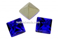 Swarovski, fancy chaton square, majestic blue, 2mm - x20