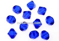 Swarovski, bicone bead, majestic blue, 3mm - x20