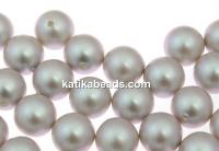 Swarovski one hole pearls, iridescent dove grey, 10mm - x2