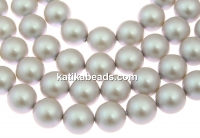 Swarovski pearl, iridescent dove grey, 5mm - x100