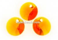 Swarovski, rivoli pendant, tangerine, 6mm - x10