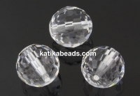 Swarovski, faceted round bead, crystal, 12mm - x1