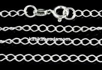 Chain, 925 silver, big jump rings, 40cm - x1