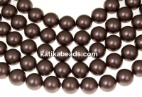 Swarovski, crystal pearls, velvet brown, 3mm - x100