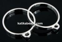 Ring base, 1 loop, 925 silver, inside 17.2mm - x1