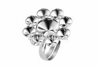 Ring base Sunflower, 925 silver, adjustable - x1