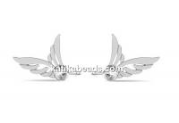 Earring findings wing, 925 silver - x1pair