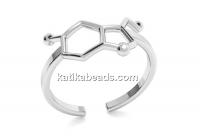 Ring serotonina, 925 silver, adjustable - x1