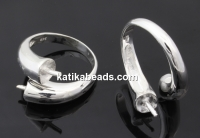 Ring base for ceralun, 925 silver, inside 18.2mm - x1