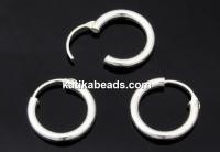 Earring findings, 925 silver, 12x2.5mm - x1pair