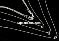 Triple chain for 3 links, 925 silver, 35+42+45cm - x1