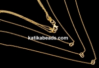 Triple chain for 3 links, gold plated 925 silver, 35+42+45cm - x1