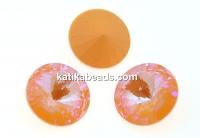 Swarovski, rivoli, peach DeLite, 12mm - x2