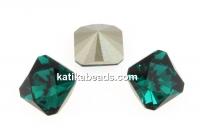 Swarovski, fancy Kaleidoscope, emerald, 6mm - x2