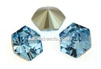 Swarovski, fancy Kaleidoscope hexagon, aquamarine, 14mm - x1