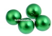 Swarovski one hole pearls, eden green, 10mm - x2