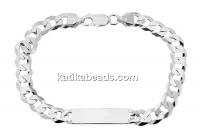 Bracelet for mens, 925 silver, 22cm - x1
