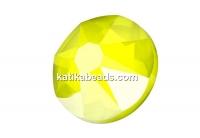 Swarovski, SS30 cabochon, electric yellow, 6mm - x4