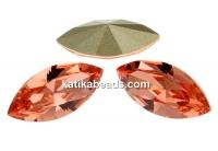 Swarovski navette, fancy chaton, rose peach, 10mm - x4