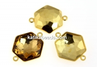 Swarovski gold-plated link base 4683, 10mm - x1