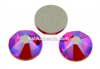 Swarovski, cabochon, light siam shimmer, 6mm - x4