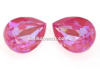 Swarovski drop fancy, Lotus Pink DeLite, 14x10mm - x1