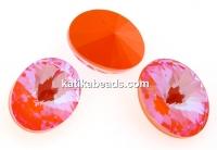 Swarovski, oval fancy, Orange Glow DeLite, 14x10.5mm - x2