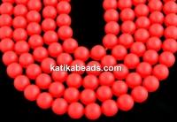 Swarovski pearls, neon red, 12mm - x2
