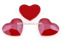 Swarovski, heart cabochon, royal red, 6mm - x2
