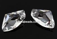 Swarovski, galactic vertical pendant, crystal, 19mm - x1