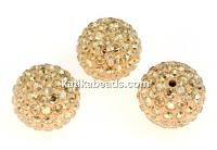 Swarovski, pave beads, golden shadow, 8mm - x1