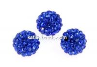 Swarovski, pave beads, majestic blue, 10mm - x1