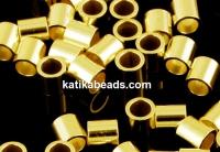Tubular crimp, gold plated 925 silver, 2mm - x20pcs