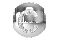 Swarovski, becharmed, letter C with crystals, 12mm - x1