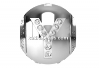 Swarovski, becharmed, letter Y with crystals, 12mm - x1
