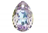 Swarovski, drop pendant, light stained glass, 9mm - x2