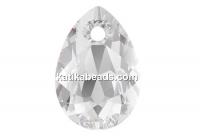 Swarovski, drop pendant, crystal, 16mm - x1