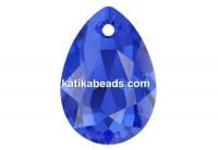 Swarovski, drop pendant, majestic blue, 9mm - x2
