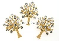 Brosa, copacul vietii cu cristale, 33x25mm - xset 3buc